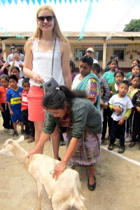 another student with goat