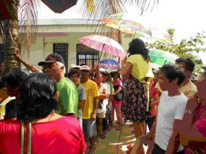 Patients Lining up for Screening